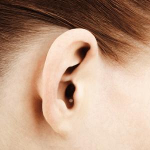 Modelo de aparelho auditivo CIC