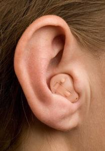On the ear